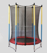 Fitness and funny colorful popular kids/adults indoor/outdoor bungee trampoline bed with safety net