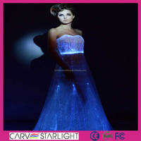 2015 fashion led light up glow in dark lace wedding dresses