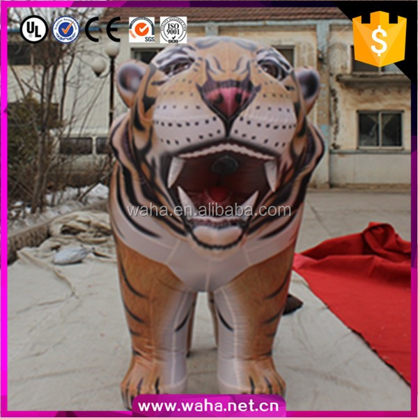 vivid inflatable tiger/shopping mall decoration