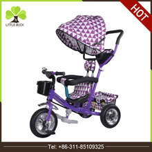 New model air wheel kids tricycle baby tricycle with push handle