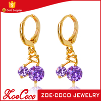 Long Chain Fashion Earring India Style Design Dignity Wedding Earrings Crystal Dangling Earrings Gold Plated Jewelry