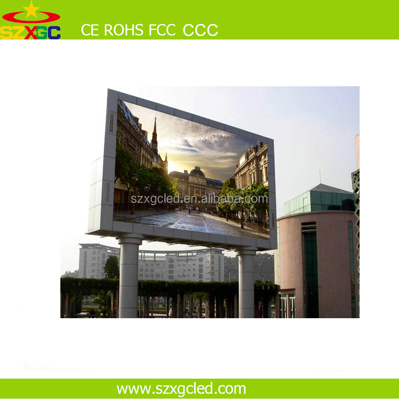 High stability Outdoor Full Color 1R1G1B 3 IN1 tube chip p8 LED Display video