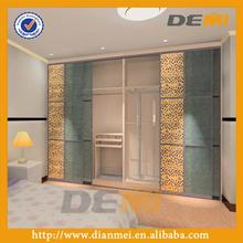 glass door bedroom wardrobe in closet