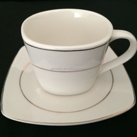 bulk ceramic blank coffee cup set, porcelain tea cup and saucer