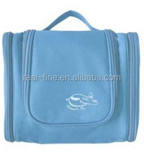 Multifunctional Travel Large Capacity Portable Pensile 300D High-grade Polyester Waterproof Toiletry Bag (Sky blue)