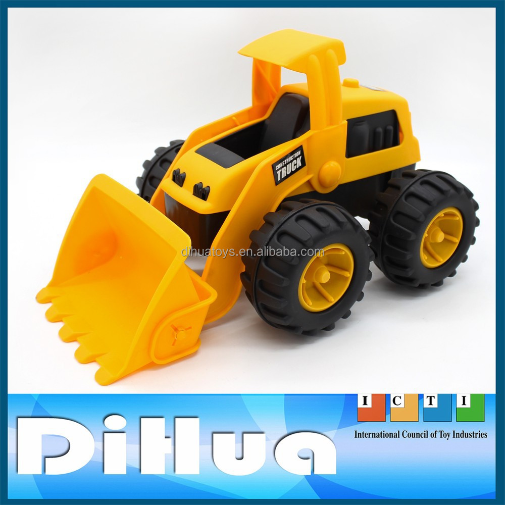 "13.5"" Big Dump Truck Kids Free-wheel Toy Bulldozers Model"