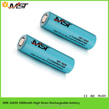Direct Manufacturer ! long performance life 18650 3000mAh li ion battery cell ! 3.7v 35A professional design