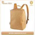 Washable paper backpack zipper pocket washable Kraft paper backpack