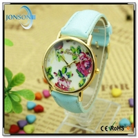 Hot selling fashion style changeable strap flower watch oem digital vogue watch