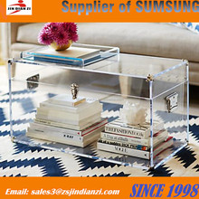 Clear acrylic trunk table, acrylic trunk coffee table in U shape China manufacturer