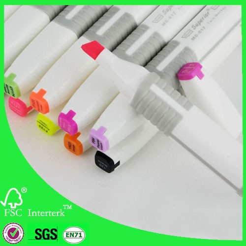 Permanent waterproof marker 170 vivid color alcohol based ink