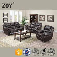 Hot sell ZOY-D9696A Power Reclining Motion Bonded Leather Sofa, Black