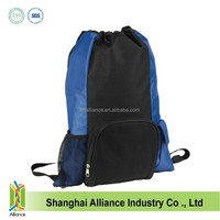 Fashion polyester drawstring school backpack for teenage girls