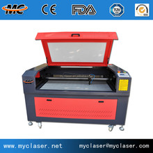 1290 Laser cutting machine for plastic plexiglass crystal rubber fabric