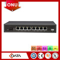 Shenzhen fiber optic equipment FTTH MDU GEPON ONU 8 FE epon poe onu home gateway