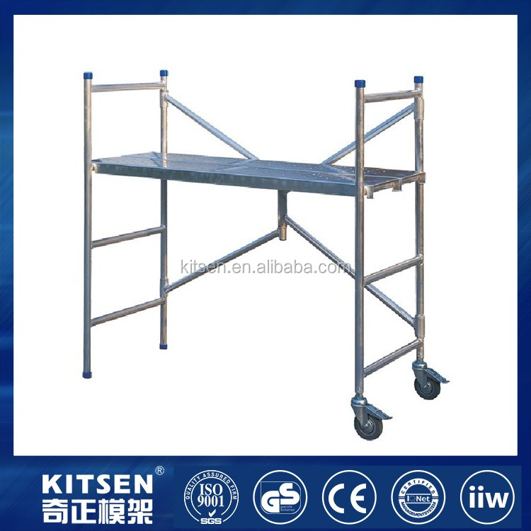 Durable Construction Mini Folding Aluminum Mobile Scaffold Tower For Decoration And Maintenance