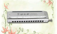 SWAN 14 hole 56 tone chromatic harmonica