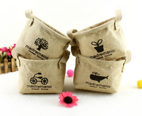 Lovely Carry up Mini Jute Burlap Tote Bags Wholesale