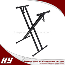 Automatic positioning adjustable detachable double-tube X keyboard stand