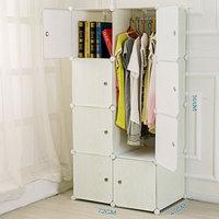 portable wood grain diy plastic wardrobe closet