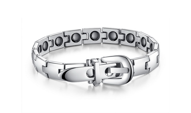 New Mens 316L Stainless Steel Titanium Magnetic Therapy Bracelet