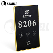 SHIBELL Hotel Electronic Doorplate with Room Number/Do Not Disturb/Clean up/Touch control