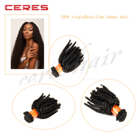 cheap afro brazilian kinky curly remy hair weave