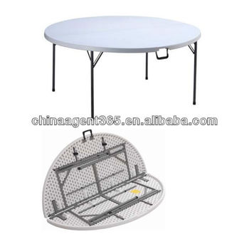 hdpe plastic folding table outdoor round folding table for sale buy plastic folding table. Black Bedroom Furniture Sets. Home Design Ideas