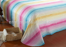 2014 fashion !!!100% polyester velet comforter twill queen size bedding set fashion stripes bedding design sell well in market