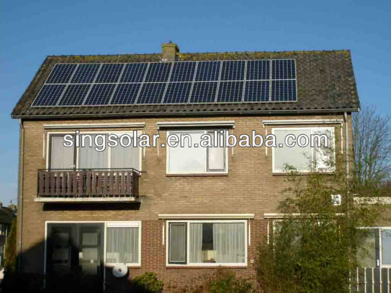 Residential using energy solar generation system 500w for unit home