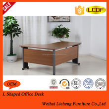 High Tech Modern Executive 2 Person l Shaped Office Desk