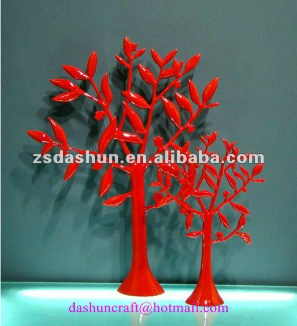 DS11063 red paint tree wedding home decor souvenir craft