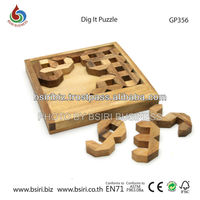 wooden brain puzzles Dig it Puzzle