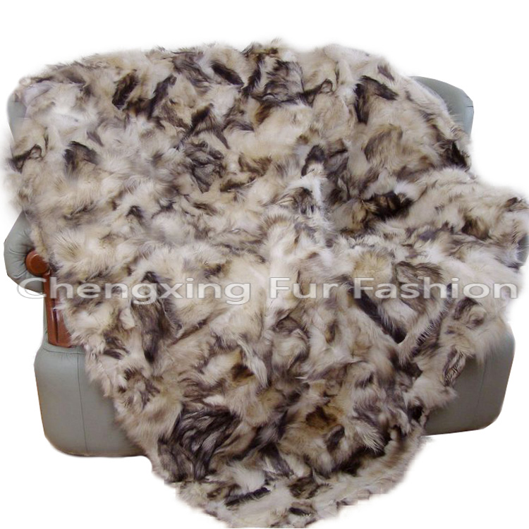 CX-D-48 Wholesale Custom Real Fox Fur Area Carpet Rug