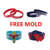 2016 promotional silicone wristband cheap custom rubber bracelet