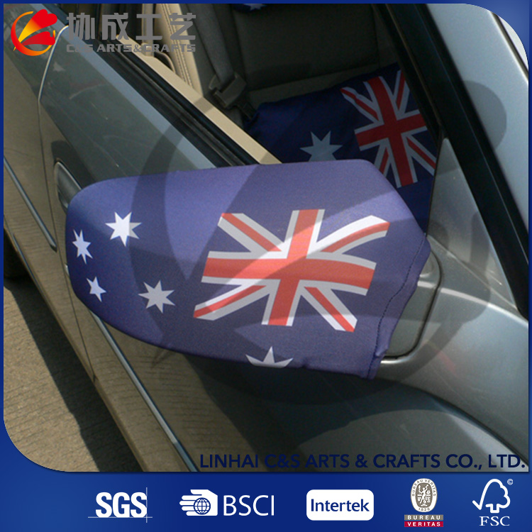 Sublimated Printing Car Flag Side Mirror Socks