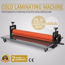 "25.5"" 650MM Manual Cold Roll Laminator 4 Roller System Vinyl Photo Film Mounting Laminating Machine"