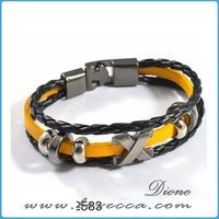 Alibaba Express Middle East Hot Sale wide braided leather bracelet
