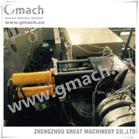 Plastic extrusion blown machine with double piston continuous screen changer melt filter