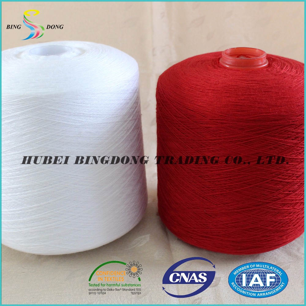 100% bright polyester staple fiber for reliance polyester yarn 30/3