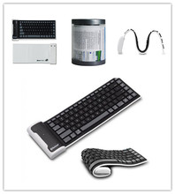 bluetooth foldable keyboard, universal silicone foldable keyboard for Iphone Ipad Samsung galaxy note/tab