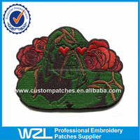 6''x 4'' Fresh flower magnetic embroderied patches label