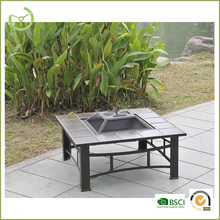 Outdoor fire pit with chimney bbq table Mosaic Firepit