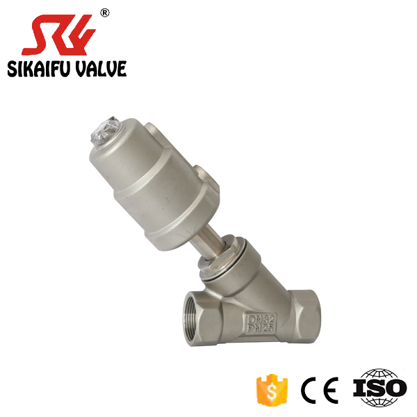 Thread Pneumatic Angle Seat Valve For <strong>Food</strong> and Beverage Industry Factory