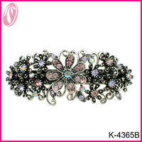 Free samples classic diamante flower hair stick barrette