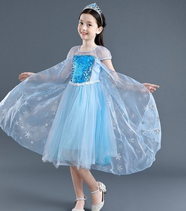 Princess Dresses Kids Girl Cosplay Costume Party Dress Children Elsa Clothing