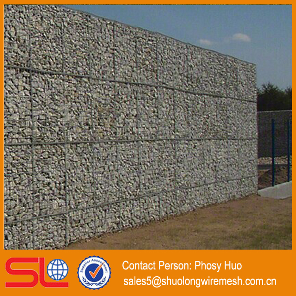 ISO9001 Factory supply hot dipped galvanized welded gabion box, stone cage for gabion house