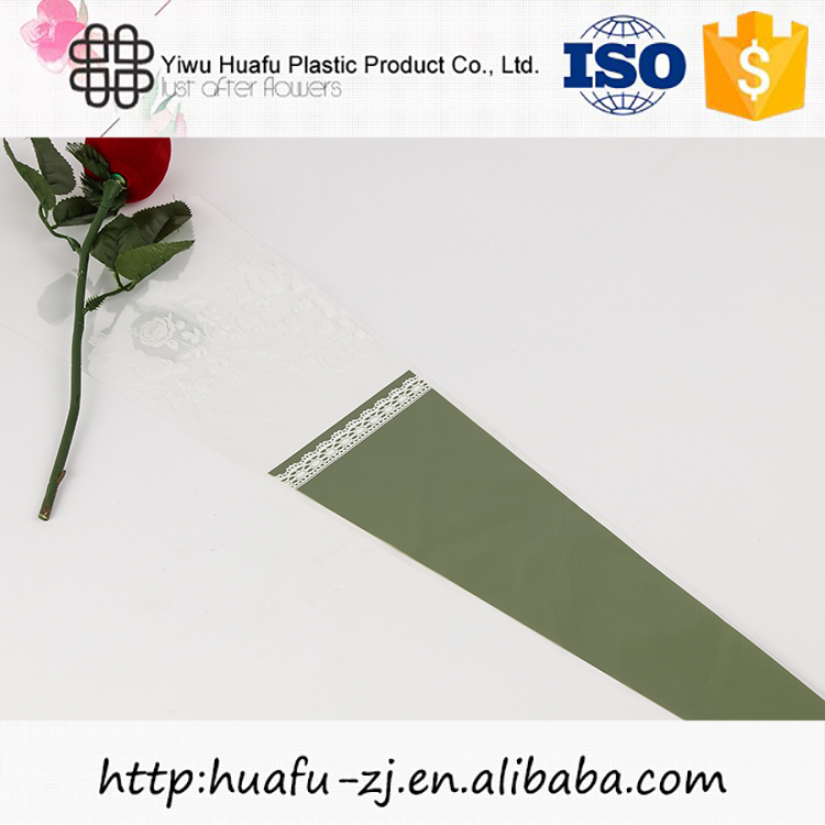 Modern style good quality printed plastic flower sleeves