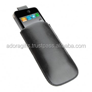 New Flip Design Cell Phone Case / Genuine Leather Black Mobile Cover / Personalised Mobile Case