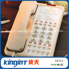 Single line or two line guestroom phone 9002